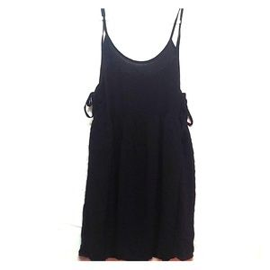 Black sundress with side ties
